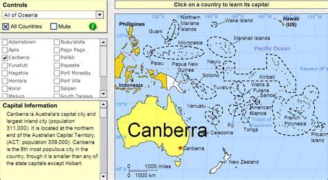 Interactive map of Oceania Capitals of Oceania. Tutorial ...