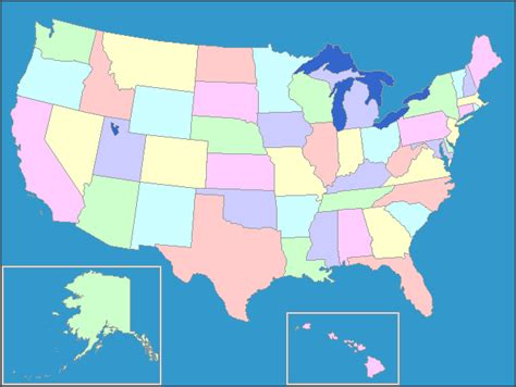 Interactive Map of the United States   United States Map ...