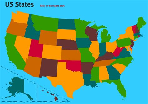 Interactive map of United States States of United States ...