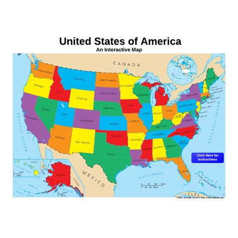 Interactive Maps Of The United States Interactive Map Of ...