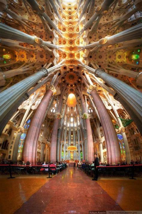 Interior of La Sagrada Familia, Barcelona, Catalonia ...