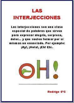 Interjeccion. | 3 Interjecciones | Pinterest | Ortografía ...