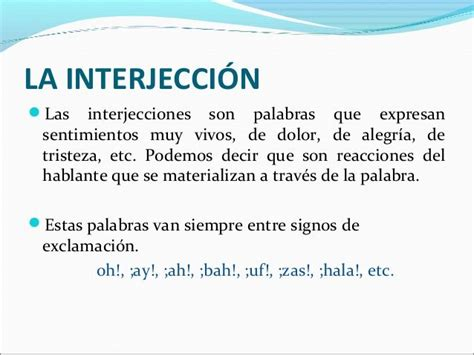 Interjeccion.   Interjecciones   Pinterest   Gramática ...