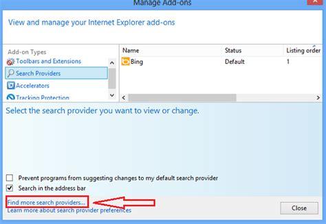 Internet Provider: Internet Explorer Google Search Provider