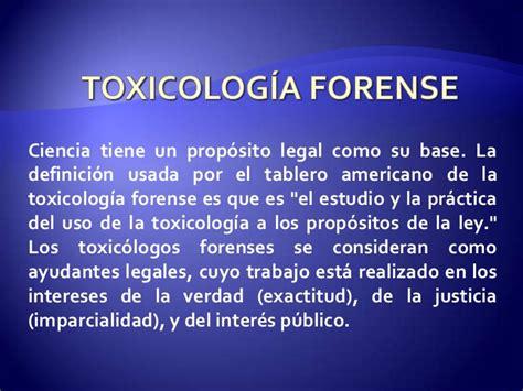 intoxicaciones en medicina forense.