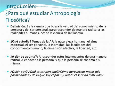 Introduccion a la Antropología Filosófica
