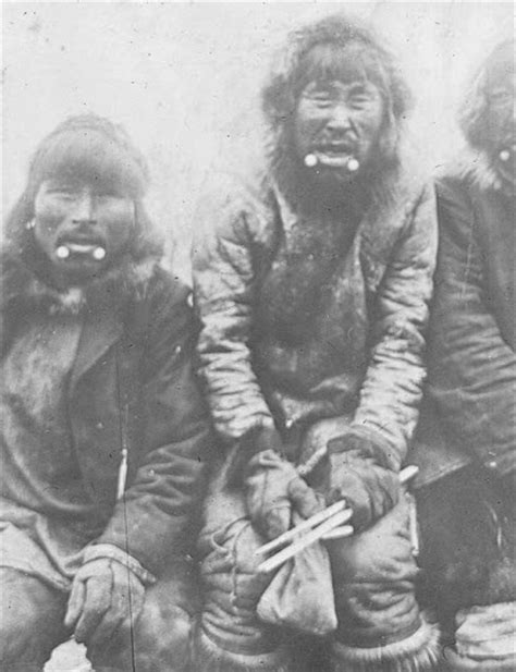 Inuit men wearing labrets   circa 1910   History ...