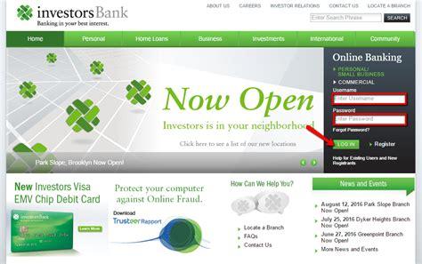 Investors Bank Online Banking Login - CC Bank