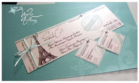 Invitación de 15 años boleto de avión | diseños en azul ...