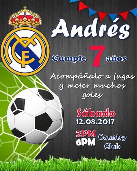 Invitaciones De Cumpleanos De Futbol Seonegativo Com