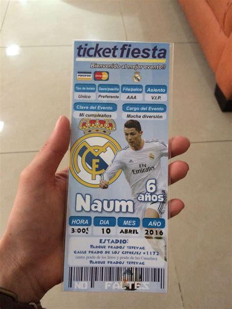 Invitacion fiesta fútbol real Madrid | invitaciones ...