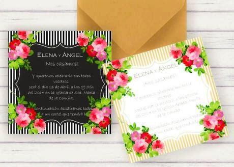 Invitaciones de boda para imprimir gratis en casa.¡Bellas ...