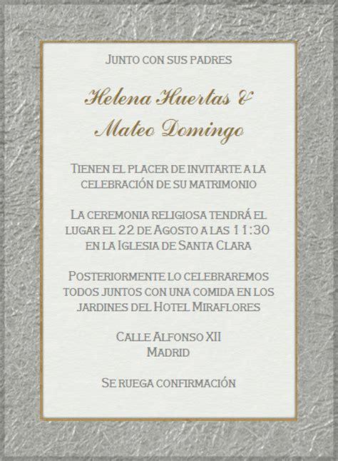 Invitaciónes de bodas en español - Imagui