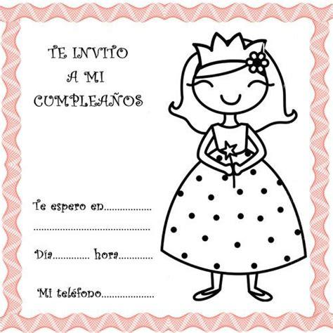 Invitaciones de Cumpleaños para imprimir   Tarjetas de ...