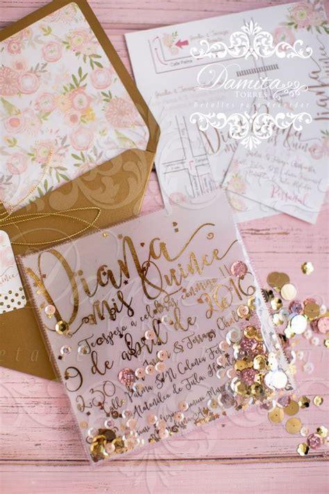 Invitaciones en color rosa para 15 años   Ideas y diseños 2018
