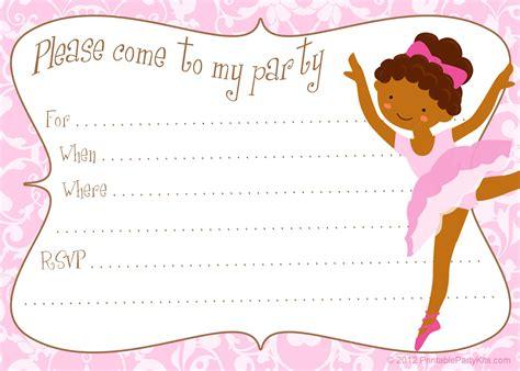 Invitaciones para cumpleaños de niñas   para imprimir ...
