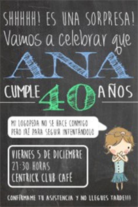 Invitaciones y photocall para un 40 cumpleaños!   Besos ...