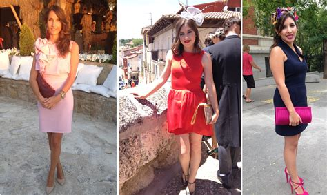 invitadas de boda de mañana con trajes cortos   Blog La ...