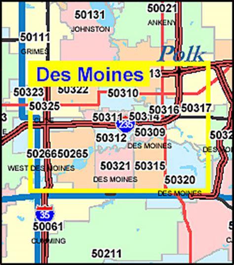 Iowa ZIP Code Map including County Maps