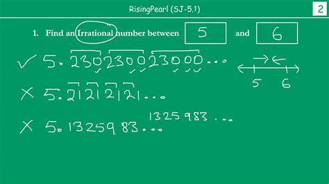 Irrational number(s) between two Integers - YouTube