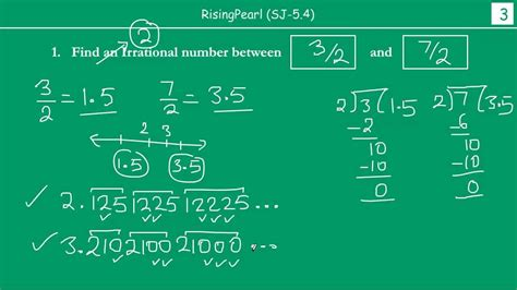 Irrational number(s) between two rational numbers - YouTube
