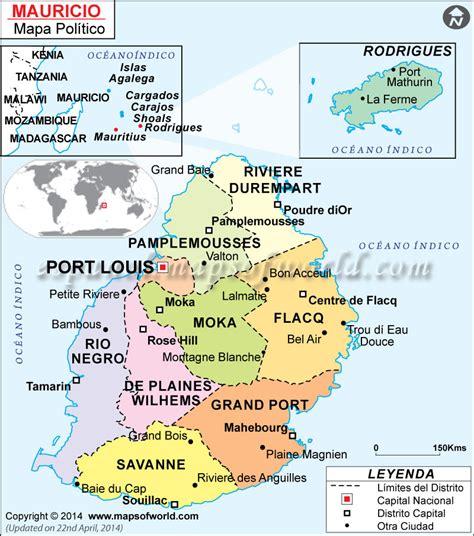 Isla Mauricio Mapa