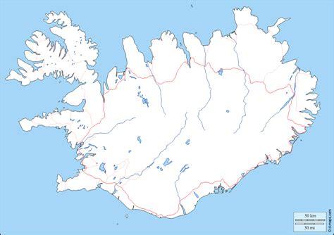 Islandia Mapa gratuito, mapa mudo gratuito, mapa en blanco ...