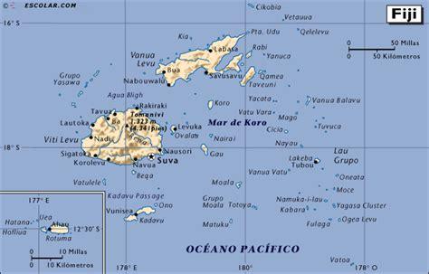 Islas Fiji Map