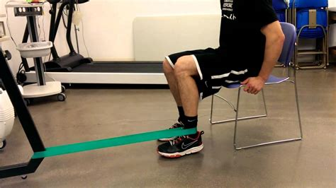Isometric knee flexion - YouTube