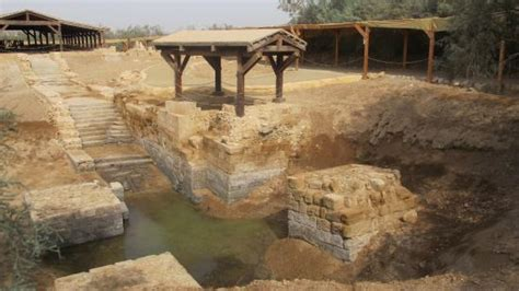 Israel across the river   Picture of The Baptism Site Of ...