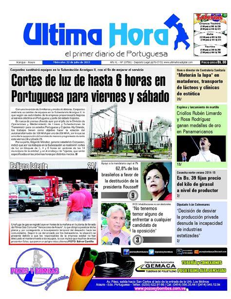 ISSUU - Edicion22 07 2015 by Última Hora - El primer ...