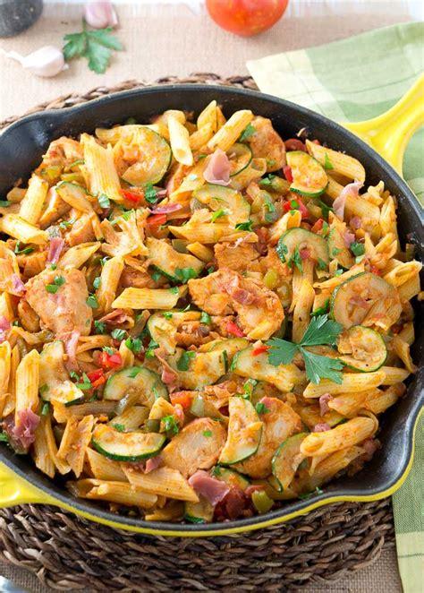 Italian Chicken and Prosciutto Pasta Skillet   Delicious ...