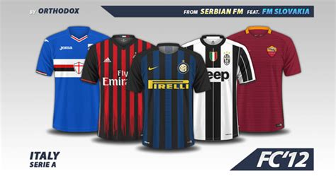 Italy Serie A Kits 2016/17 | FM Scout