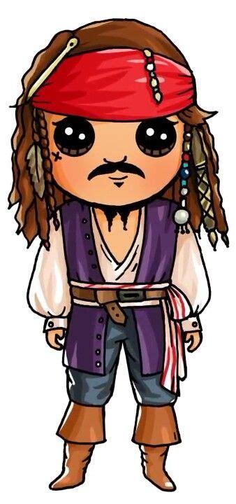 Jack Sparrow | Draw so cute | Pinterest | Dibujos kawaii ...