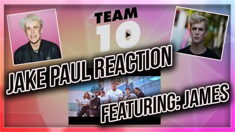 Jake Paul Music Video Reaction | Ft. James   YouTube