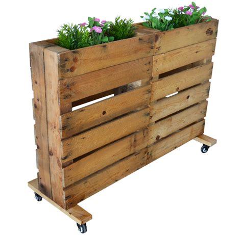 Jardinera de Palets con Ruedas Nature
