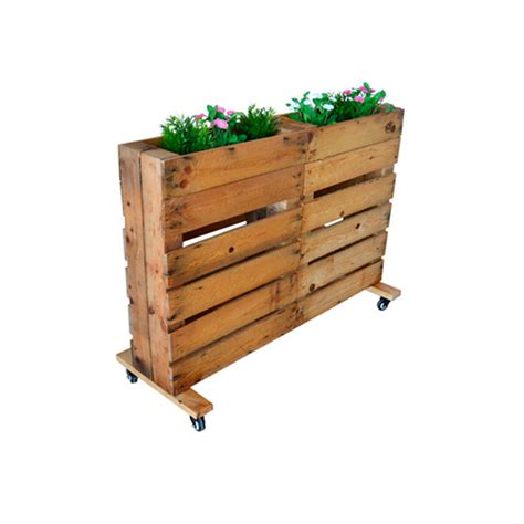 Jardinera de Palets con ruedas para terrazas | DECOPALE.COM