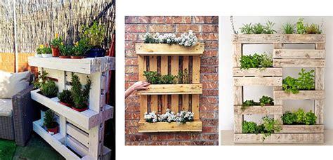 Jardineras con palets para la terraza o jardín