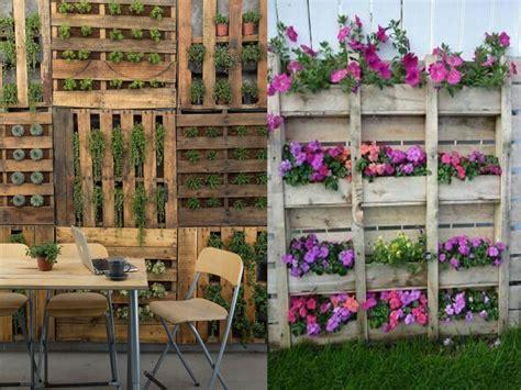 Jardines Verticales Con Palets. Fabulous El Colorido De ...
