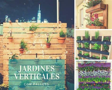 Jardines verticales con palets | Plantas