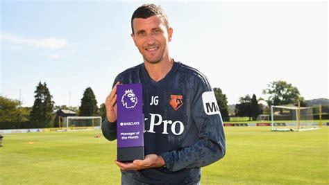 Javi Gracia, entrenador del mes de agosto en la Premier League