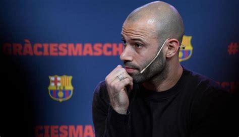 Javier Mascherano entre lágrimas: