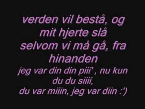 Jeg var din med lyrics - YouTube