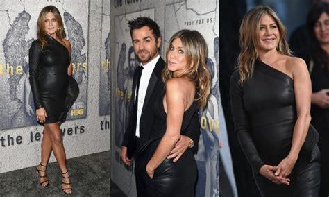 Jennifer Aniston, 48 años y un  look  de cuero que arrasa