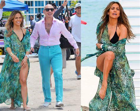 Jennifer Lopez i Pitbull na planie teledysku!  ZDJĘCIA ...