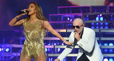 Jennifer Lopez Surprises Crowd at Pitbull's Vegas Show ...