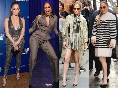 Jennifer Lopez Wears Five Different Outfits in One Day ...