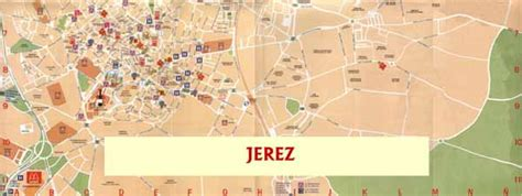 Jerez street map. Don't get lost in Jerez city center with ...