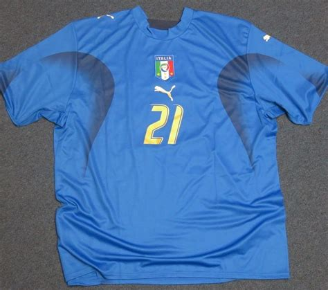 Jersey Firmado Andrea Pirlo Seleccion Italia Alemania 2006 ...