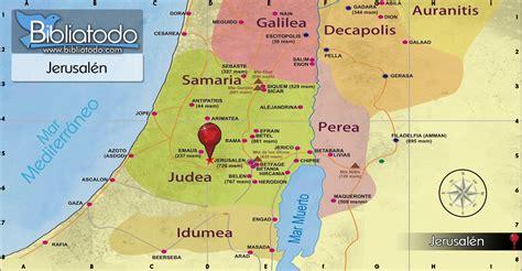 Jerusalén - Mapa y Ubicación Geográfica